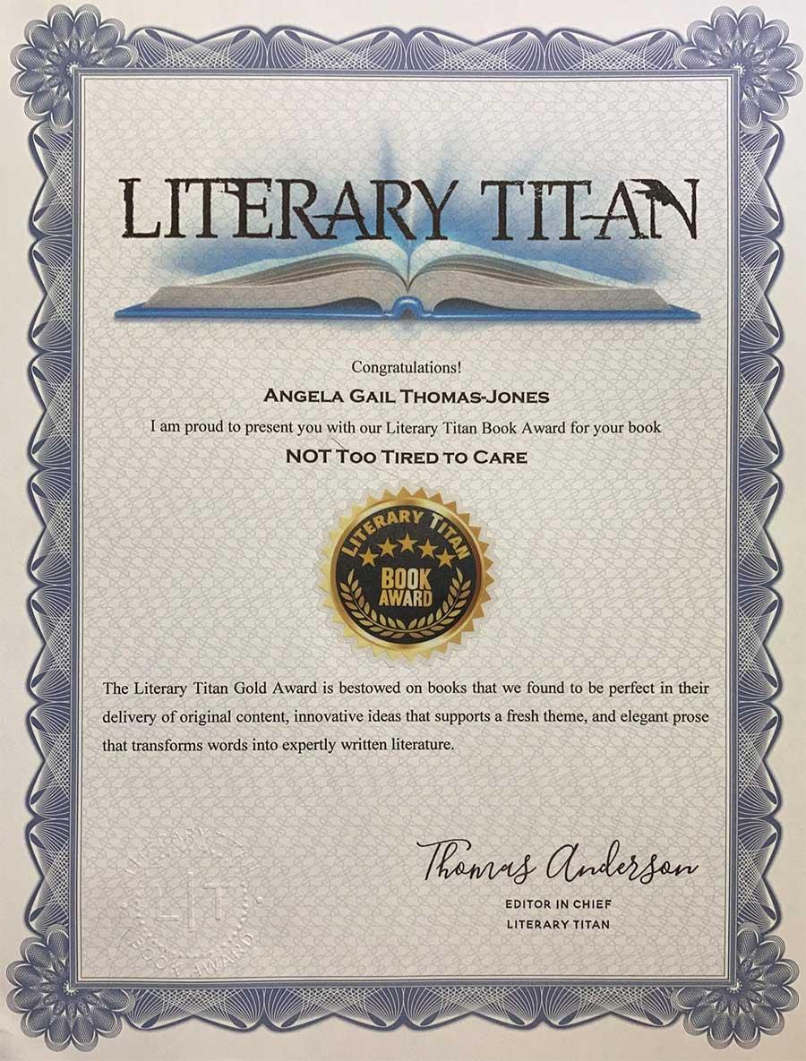 Winner of the Literary Titan Book Award